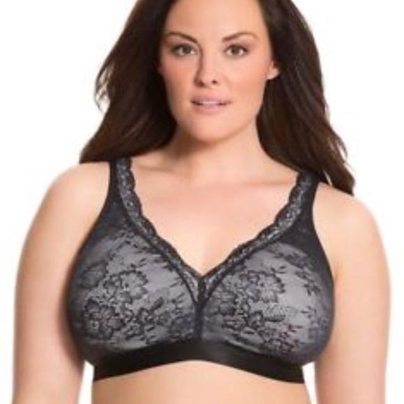 c4efc03792f Cacique Other - Cacique Black Lace no underwire bra. Size 44c